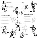 Large 'Colour-in' Soccer Kids Activity Poster