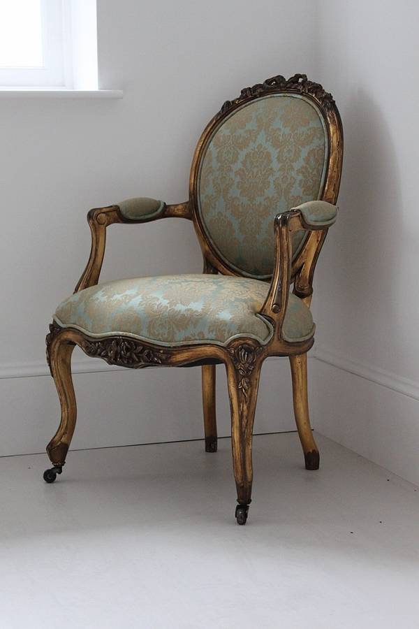 gold and turquoise louis armchair by out there interiors ...