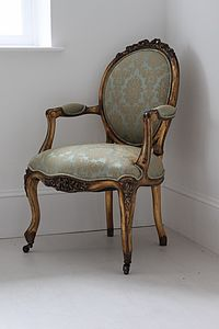 Gold Louis Armchair - furniture