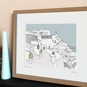 Personalised Holiday Illustration - maps & locations