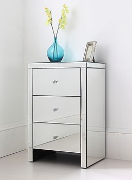 Large Mirrored Bedside Table