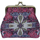 Silk Purse In Pink Stone Print