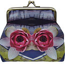 Lily Flight Digital Print Silk Purse