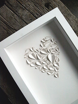 Love Heart Hand Crafted Wall Art