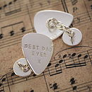 Silver Plectrum Cufflinks