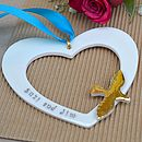 Personalised Hanging Wedding Heart