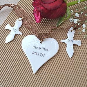 Personalised Mini Wedding Garland - room decorations