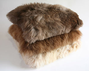 Alpaca Fur Cushion - living room
