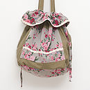 Drawstring bag vintage rose warm grey