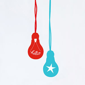 Giant Lightbulb Fabric Wall Stickers - gifts for children