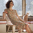 Tea dress in vintage rose pale stone