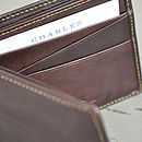 Boxing Hares Brown Leather Wallet