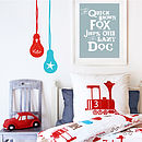 Giant Lightbulb Fabric Wall Stickers