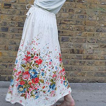 Full Bloom Pintuck Skirt