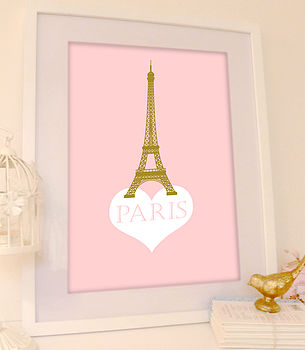 'Paris' Eiffel Tower Print