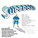 Personalised 'Superdad' Print