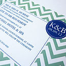 Chevron Personalised Wedding Stationery