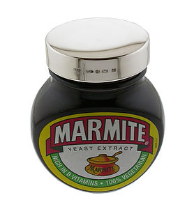 Personalised 125g Silver Marmite Lid - kitchen accessories