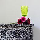 Silver Black Embossed Dressing Table