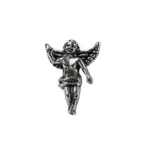 Silver Guardian Angel Keepsake Pin - pins & brooches