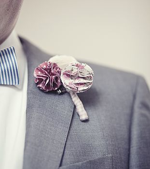Fabric Floral Buttonhole