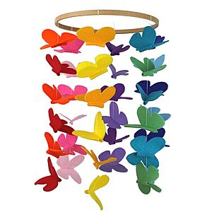 Rainbow Baby Mobile Butterfly Large - mobiles
