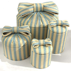 Limited Edition Vintage Stripe Trinket Box - boxes, trunks & crates