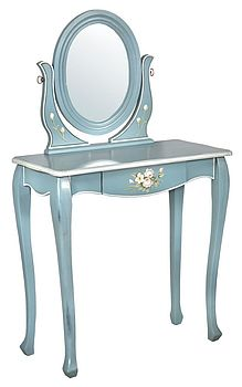 French Floral Print Dressing Table/Stool