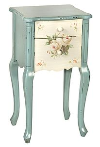 French Floral Print Bedside Table - living room