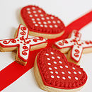 Hearts And Kisses Biscuit Box