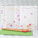 Flowers & Hearts Note Cards Set