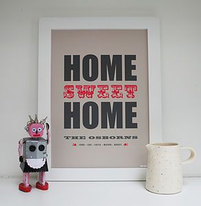 Personalised New Home Print - pictures, prints & paintings
