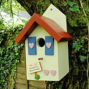 Personalised Handcrafted Country Cottage Bird House