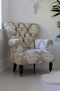 Flocked Upholstered Armchair - furniture