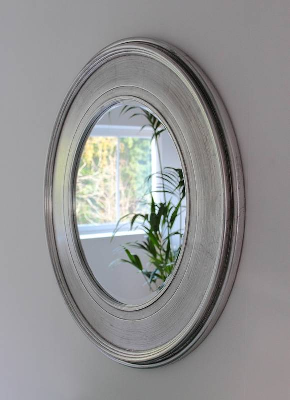 Silver Effect Round Mirror By Out There Interiors