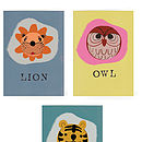 Animal Paper Balloon Greeting Card