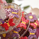 Flowers And Butterflies Biscuit Bouquet