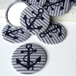 Anchor Fabric Pocket Mirror