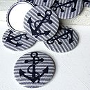 Anchor Fabric Pocket Mirror
