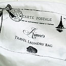 Personalised Laundry Travel Bag