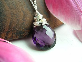 Pearl Woven Amethyst Necklace