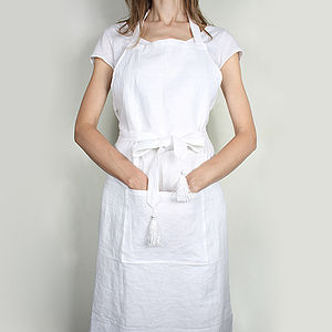 100% Linen Aprons - kitchen accessories