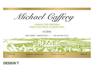Personalised Wine Labels - wedding favours