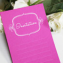 Pack Of Eight 'Ella' Invitations