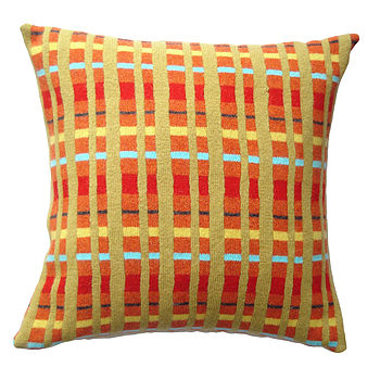 Paprika Knitted Lambswool Cushion