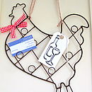 Wire Chicken Card Holder