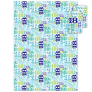 18th Birthday Personalised Gift Wrap