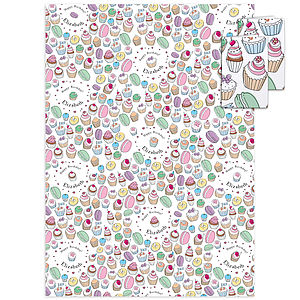 Birthday Cakes Personalised Gift Wrap - wrapping paper