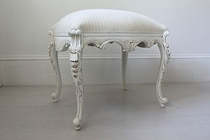 White French Dressing Table Stool - furniture