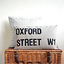Personalised Street Sign Cushion Cover